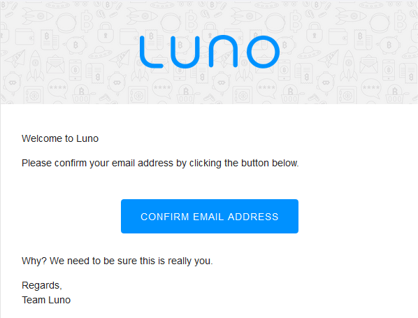 confirm email luno